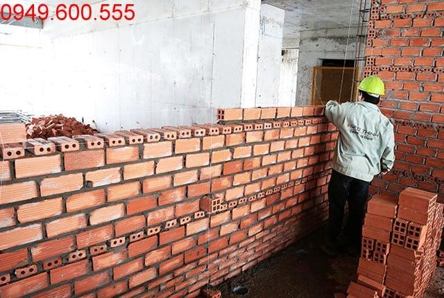 Xây tường bao căn hộ tầng 8 Block A, tầng 7 Block B, tầng 10 Block C 9 View Apartment
