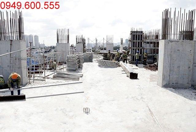 Hoàn thành đổ bê tông sàn tầng 6 - block Northern dự án chung cư Sài Gòn Mia