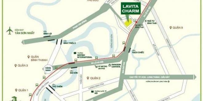 Vị trí dự án Lavita Charm