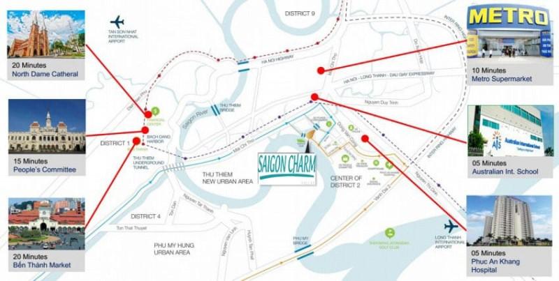 Liên kết vùng Saigon Charm Villas