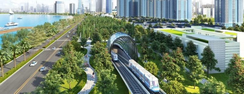 Tàu điện ngầm đầu tiên của Việt Nam đi ngầm trong lòng dự án Vinhomes Golden River