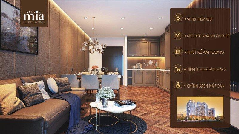 Cho thuê căn hộ Saigon Mia