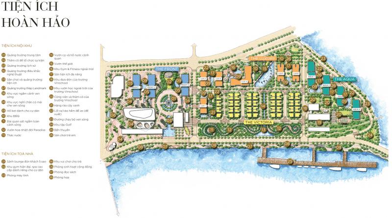 Tổ hợp tiện ích hoàn hảo bên trong lòng dự án Vinhomes Golden River