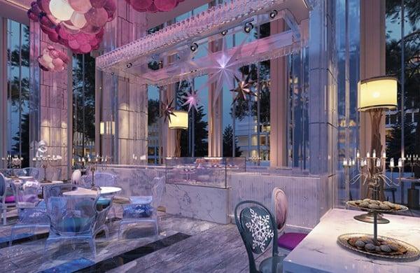Khu Coffee, Ice-Cream lấy cảm hứng từ lâu đài băng tại Coco Wonderland Resort