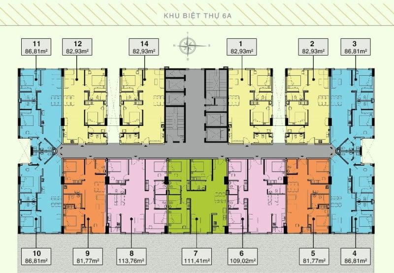 Mặt bằng tổng thể dự án cho thuê căn hộ Citizen