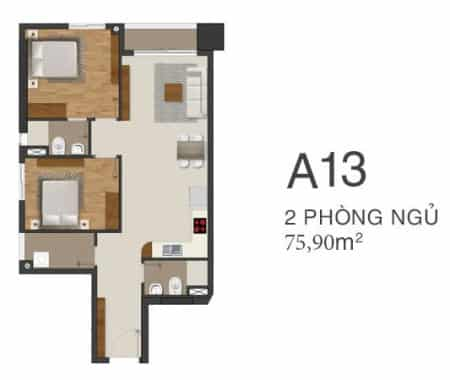 Thiết kế căn hộ Moonlight Park View 2 phòng ngủ