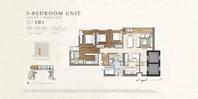 mặt bằng căn hộ the nassim 4