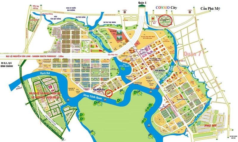 Mặt bằng căn hộ Cosmo city