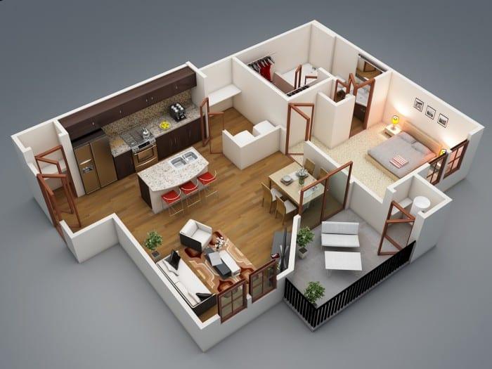 Mậu thiết kế căn hộ Fresca Residences mẫu 1