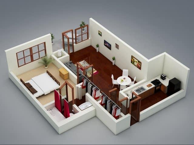 Mậu thiết kế căn hộ Fresca Residences mẫu 2
