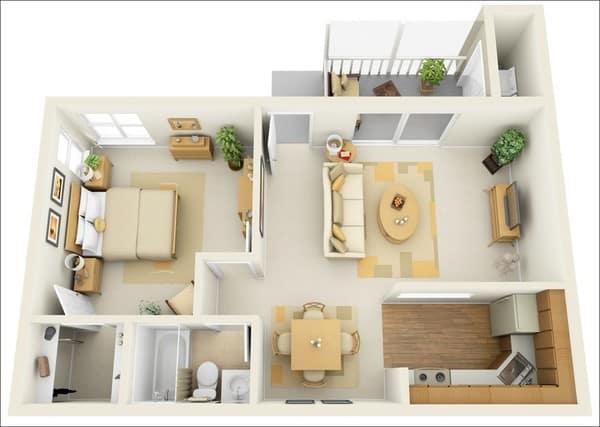 Mậu thiết kế căn hộ Fresca Residences mẫu 4