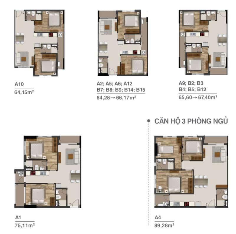 Thiết kế căn hộ Moonlight Residences Thủ Đức cho thuê