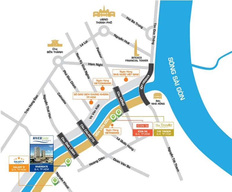 vị trí khu cho thuê căn hộ river gate