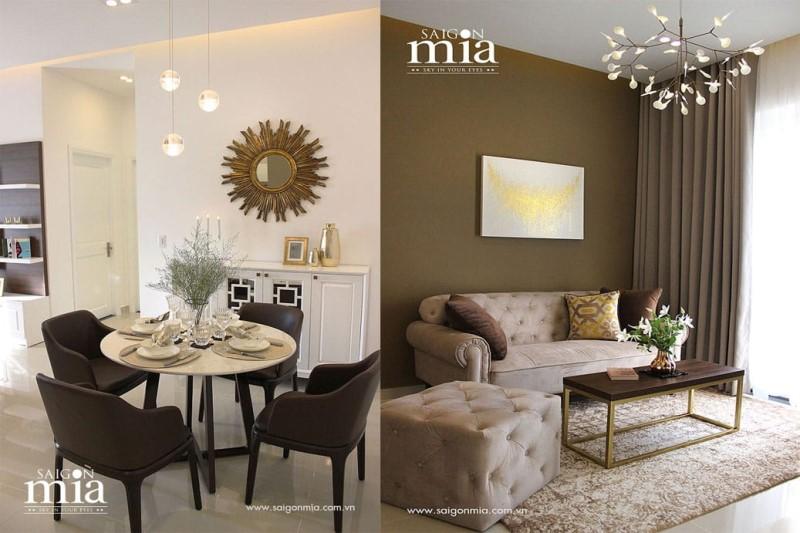 Mẫu căn hộ Saigon Mia cho thuê