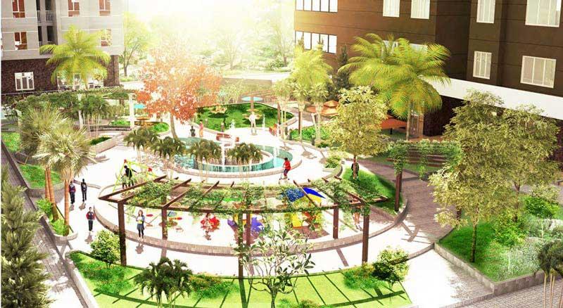 công viên tại khu vị trí tiện ích căn hộ saigonres plaza