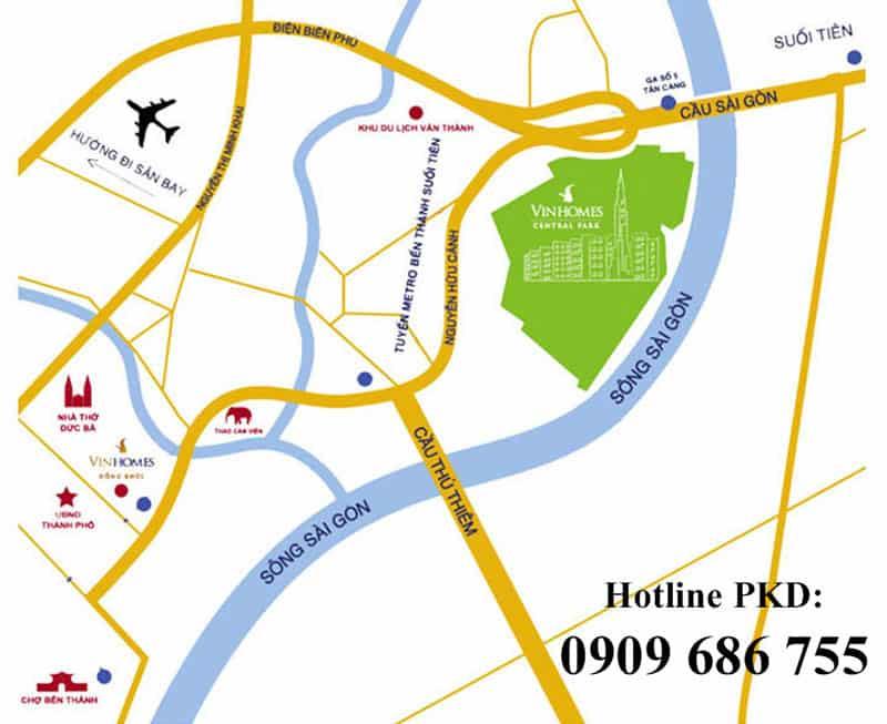 vị trí căn hộ vinhomes central park