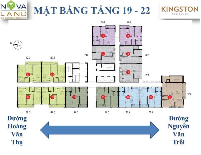 mặt bằng căn hộ Kingston Residence