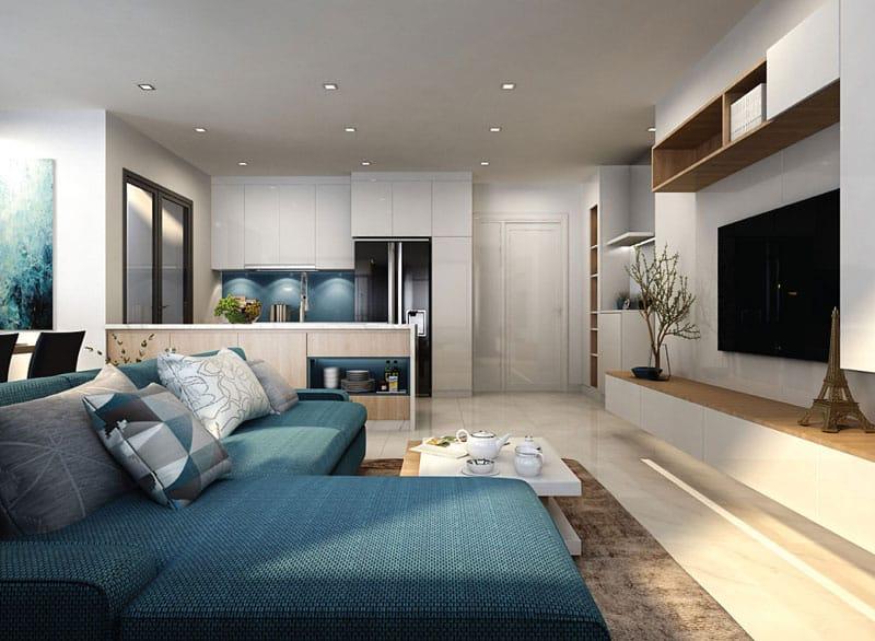 phòng khách căn hộ newcity