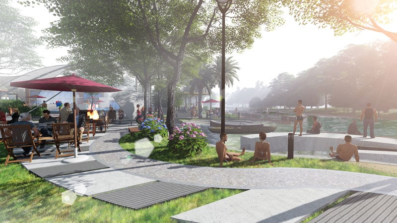 công viên dự án căn hộ gs metro city