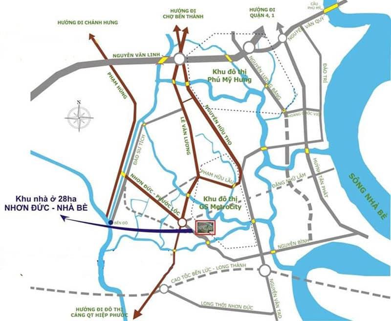 vị trí căn hộ gs metro city