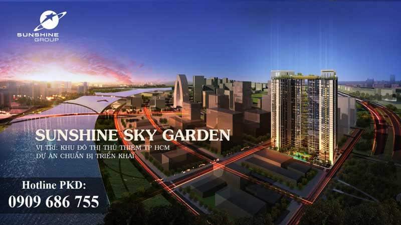 vị trí căn hộ sunshine sky garden