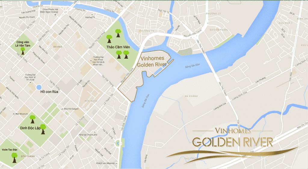 Vị trí dự án căn hộ Vinhomes Golden River - BAson Quận 1