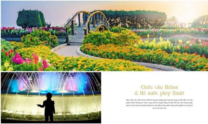 Chiếc cầu Helios & hồ nước phép thuật tại Coco Wonderland Resort