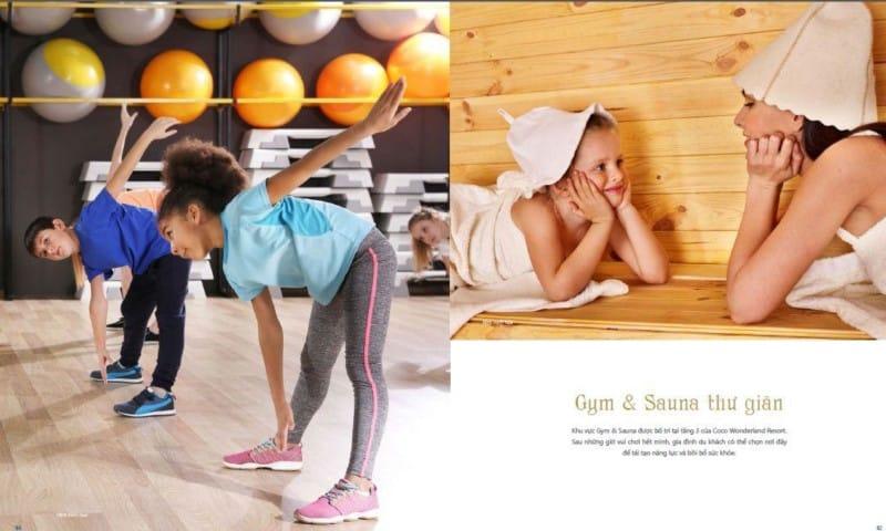 Gym & Sauna thư giãn tại Coco Wonderland Resort