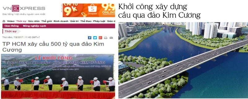 Khởi công xây cầu qua đảo Kim Cương