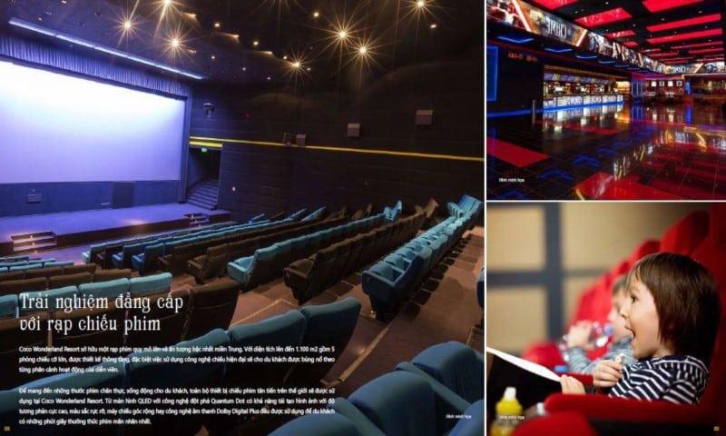 Trải nghiệm đẳng cấp với rạp chiếu phim tại Coco Wonderland Resort