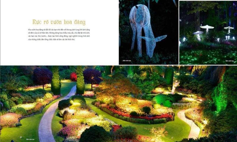 Vườn hoa đăng rực rỡ tại Coco Wonderland Resort