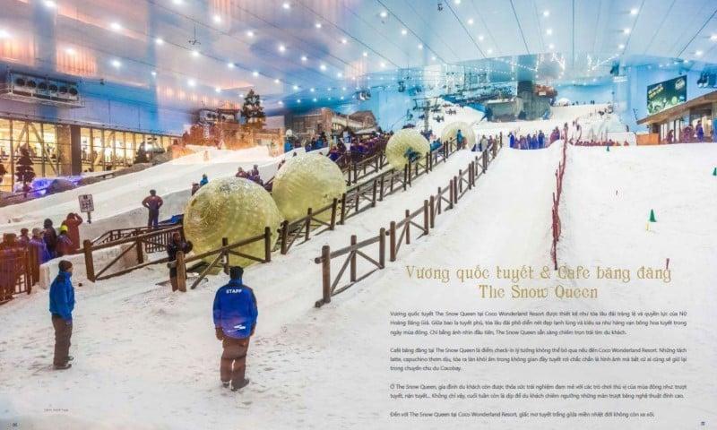 Vương quốc tuyết & café băng đăng The Snow Queen tại Coco Wonderland Resort