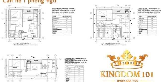 Căn hộ Kingdom 1 phòng ngủ