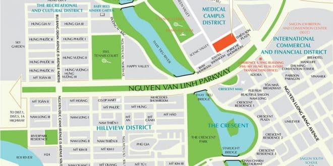 vị trí căn hộ Scenic Valley