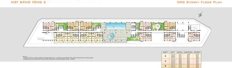 Mặt bằng căn hộ Garden Plaza 1