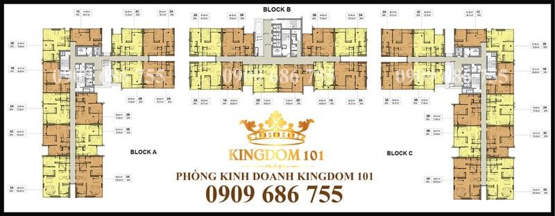 Mặt bằng căn hộ kingdom