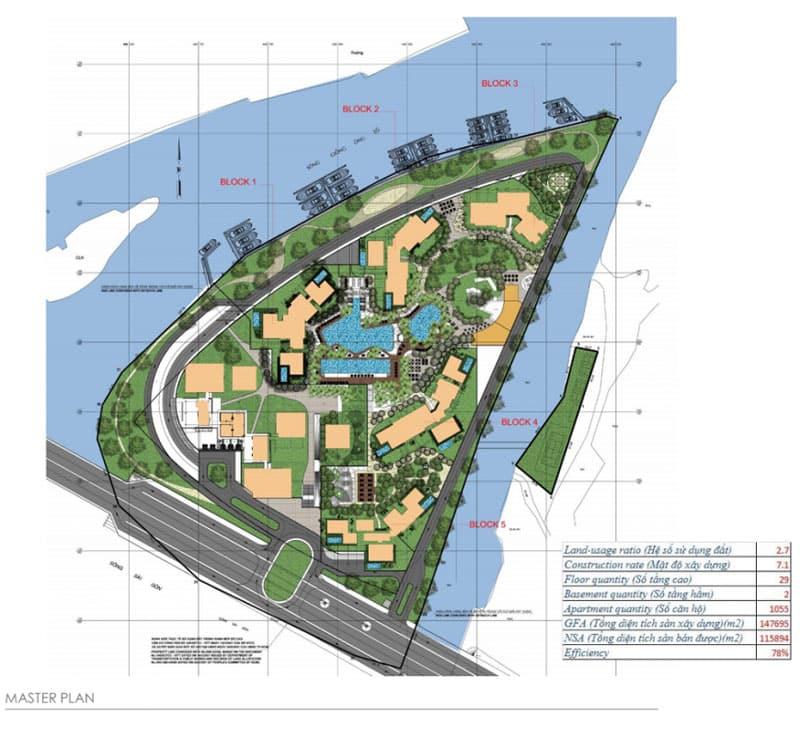 Mặt bằng tổng thể dự án Đảo Kim Cương
