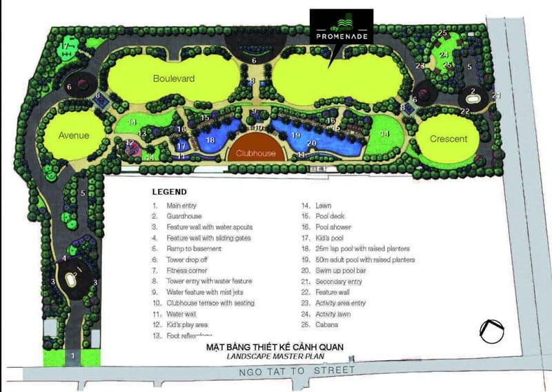 Mặt bằng căn hộ City Garden