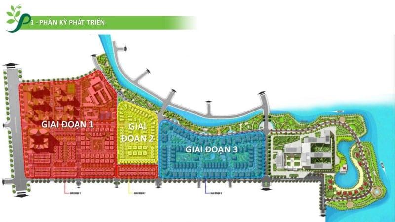 Tổng thể các giai đoạn 1-2 và 3 của dự án Phố Động Village
