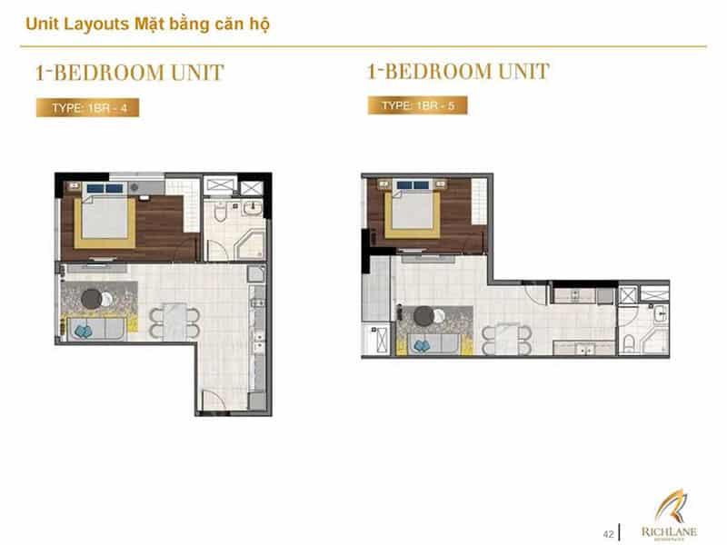 Mặt bằng căn hộ Richlane Residence