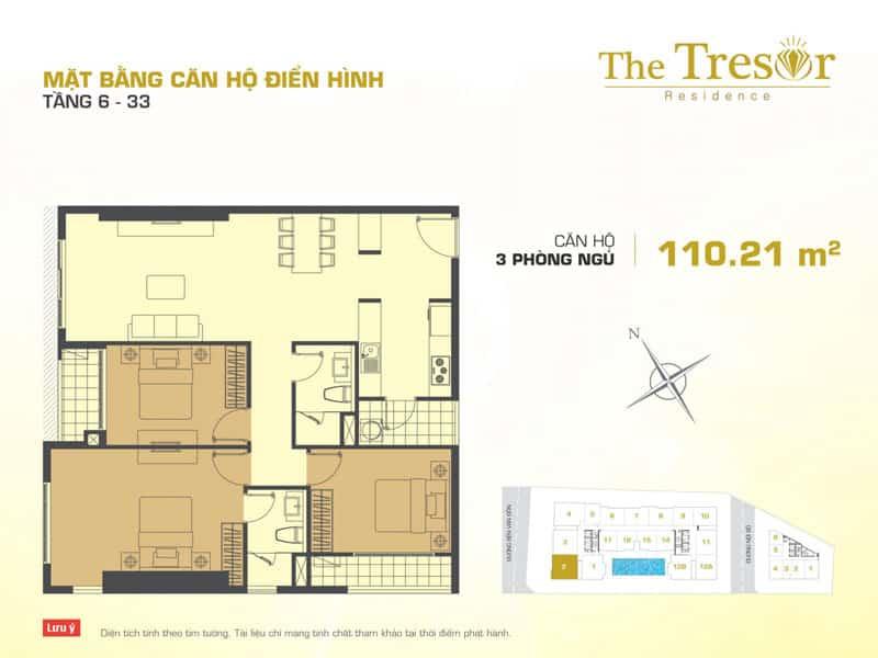 Mặt bằng căn hộ The Tresor