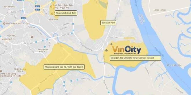 Vị trí Căn hộ Vincity New Saigon