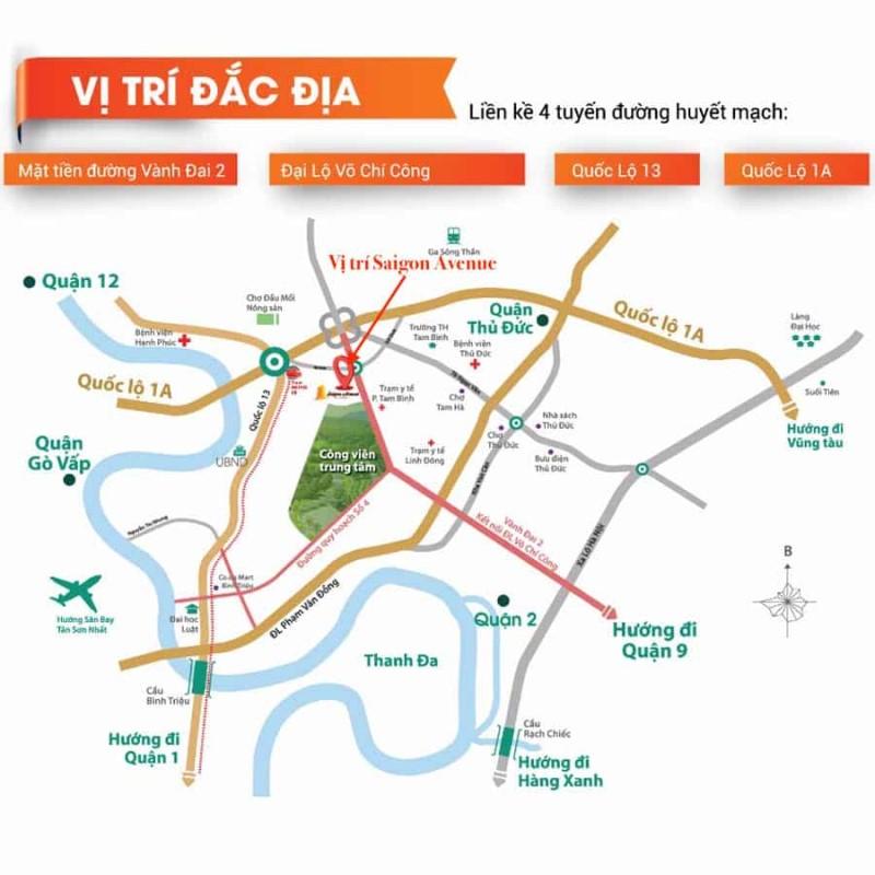 Vị trí Căn hộ Saigon Avenue