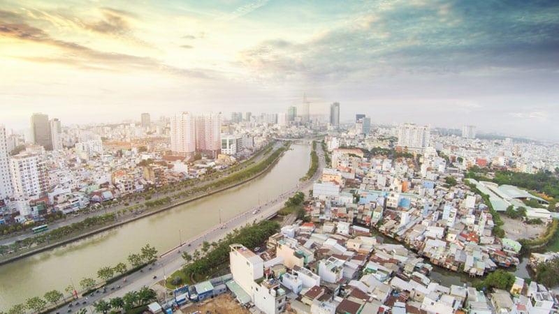 View thực tế tại dự án Grand Riverside