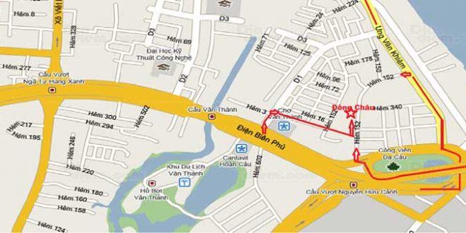 Vị trí Cao ốc 152 Điện Biên Phủ