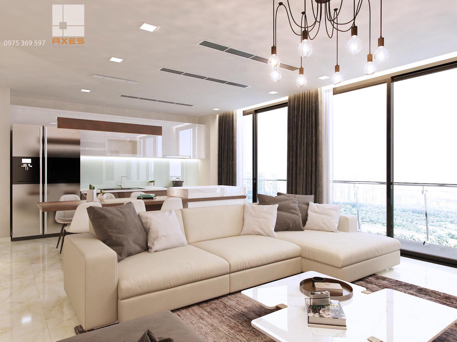hình ảnh phòng khách thực tế căn hộ cho thuê