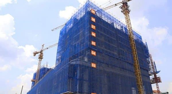 Tiến độ xây dựng dự án tháng 11/2017
