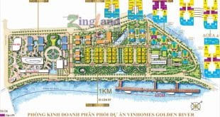 mặt bằng toàn khu Vinhomes Golden River - Bason quận 1