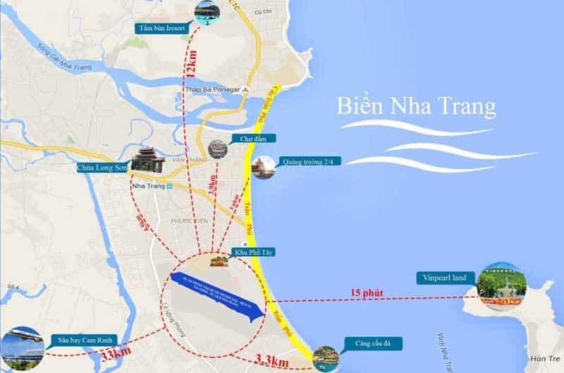 Vị trí Piania City Nha Trang