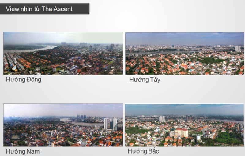 View căn hộ Acsent Thảo Điền 3 phòng ngủ